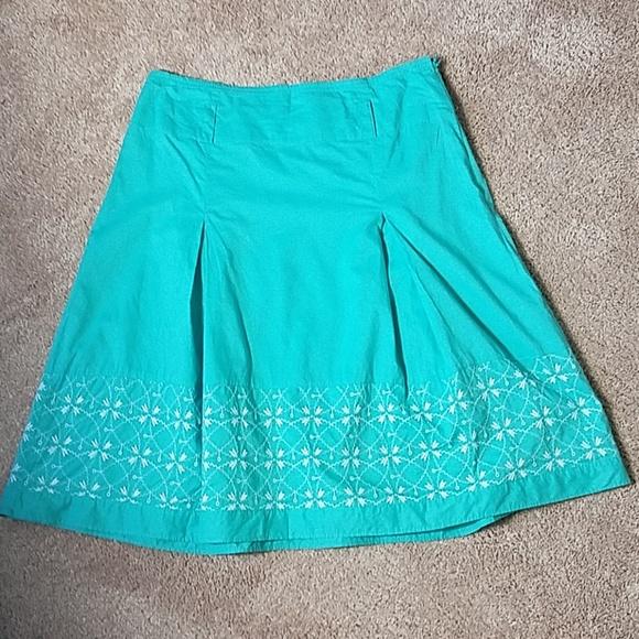 6c6911fe0352 Nine & Co. Skirts | Nine And Company Green Eyelet Skirt | Poshmark